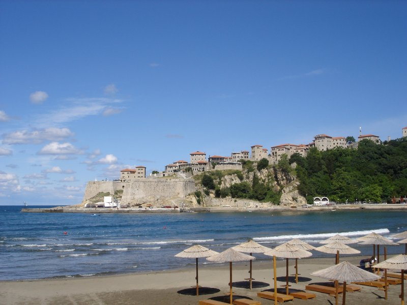 City beach and old town Ulcinj